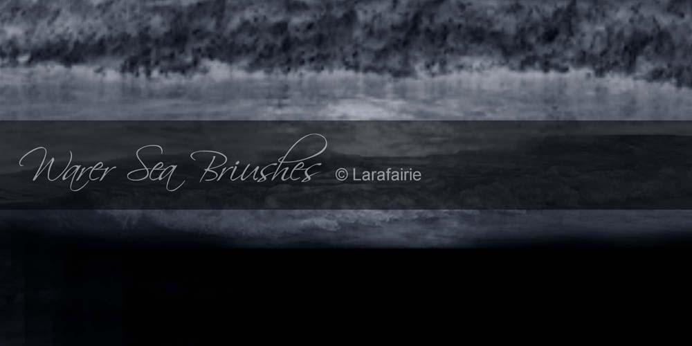 Larafairie-Waterseabrushes by larafairie-stock
