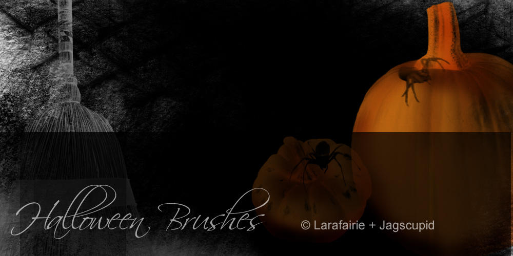 Larafairie-HalloweenBrushes by larafairie-stock