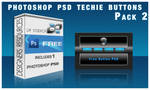 Techie Glass  Button PSD