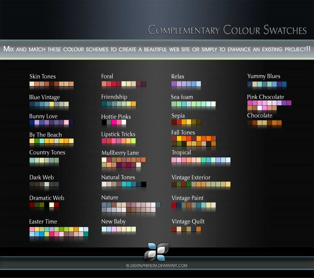 Complementary Colour Swatches