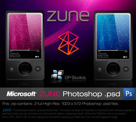 Microsoft ZUNE PSD by DigitalPhenom