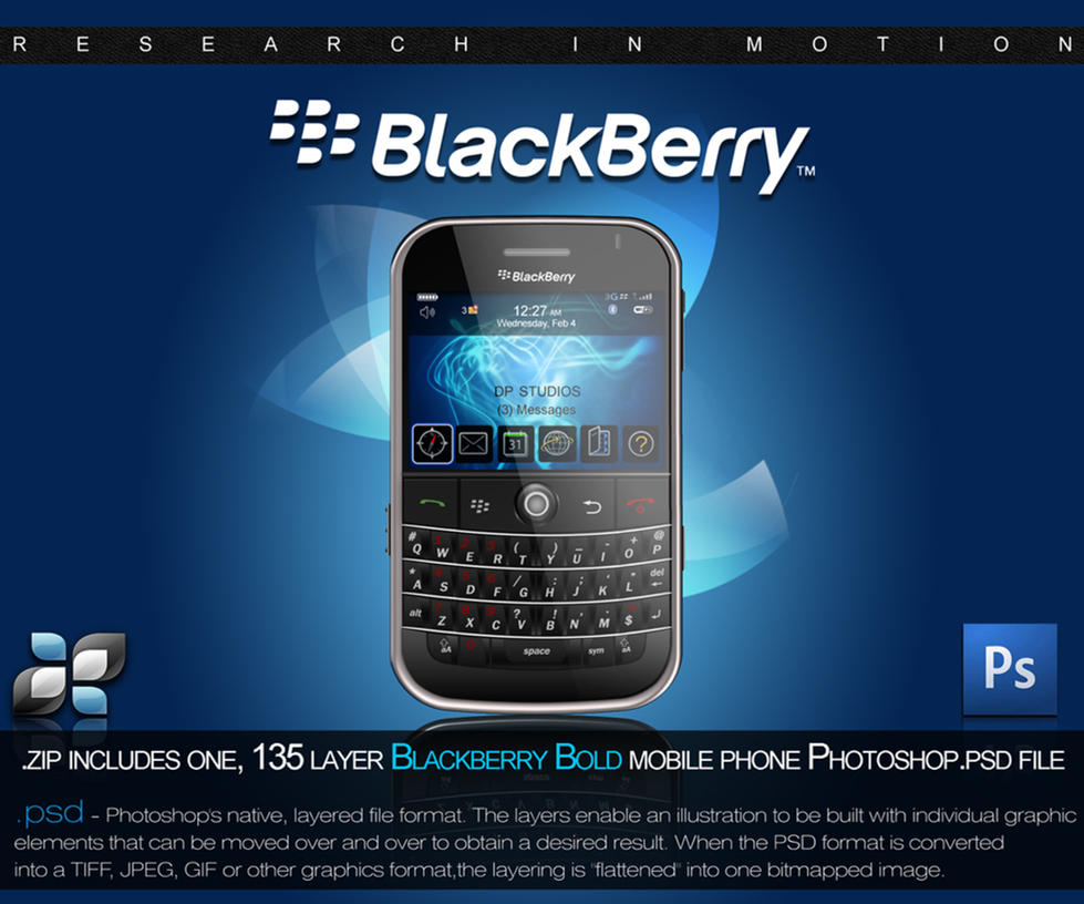 RIM Blackberry PSD by DigitalPhenom