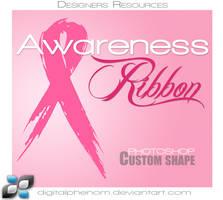 Grunge Awareness Ribbon Shape