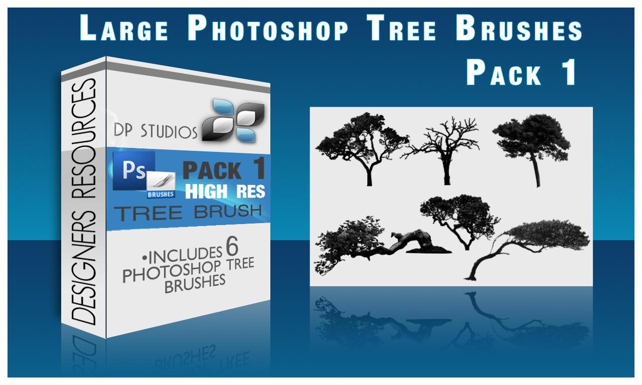 6 Photoshop Tree Brushes by DigitalPhenom