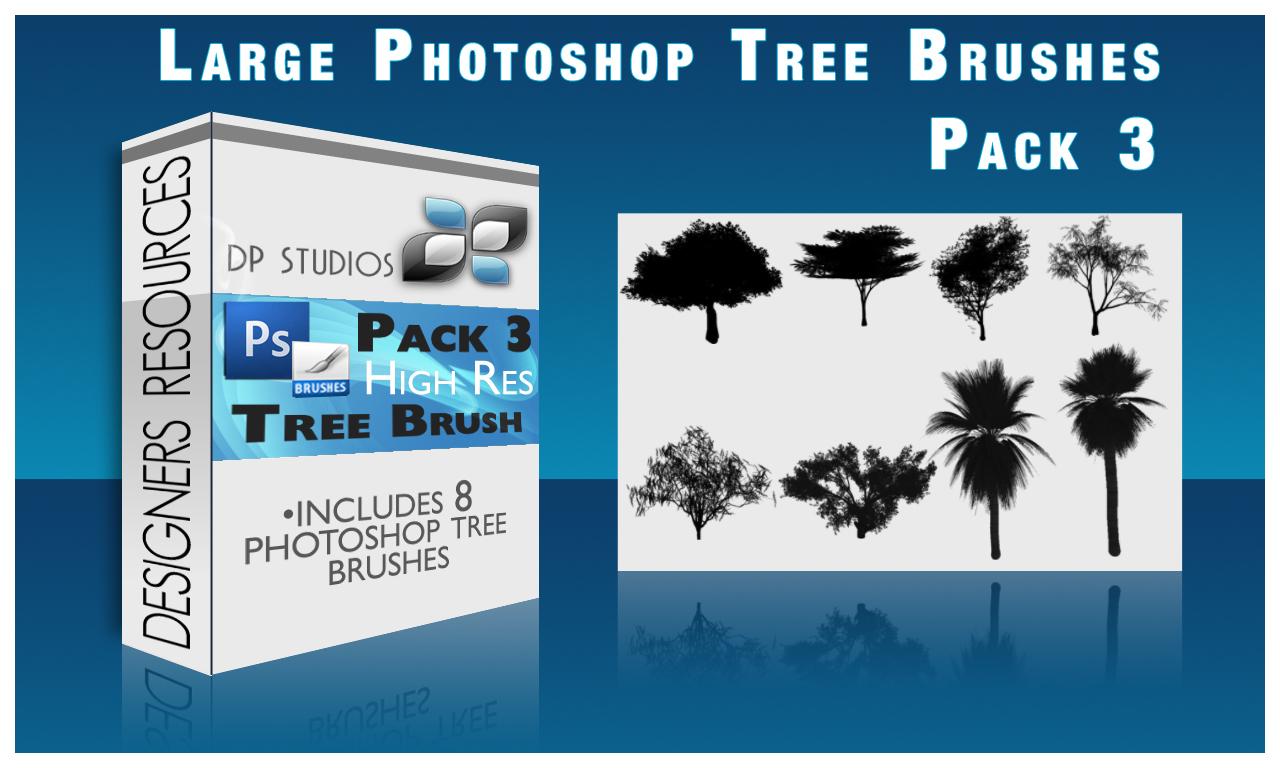 8 Photoshop tree Brushes v3 by DigitalPhenom