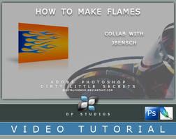 Flames in PS Video Tutorial by DigitalPhenom