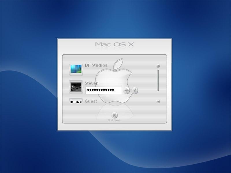 Mac OS Steel Blue Logon by DigitalPhenom