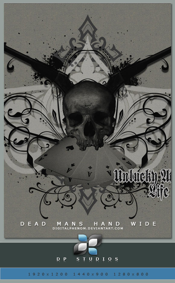 Dead Mans Hand Wide by DigitalPhenom