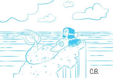 Mermaid Sketch by cjbolan