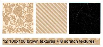 12 100x100 brown + 8 scratch
