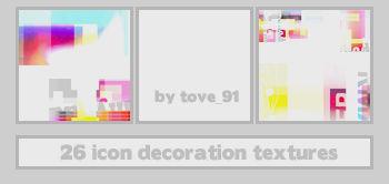 25 icon decoration textures