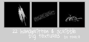 22 big text + scribble texture