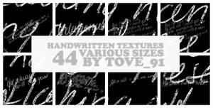 44 handwritten various sizes
