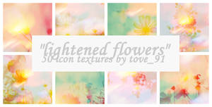 50 light flowers icon textures