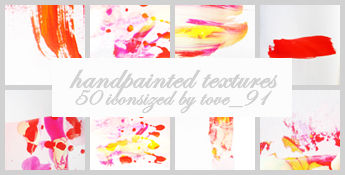 Handpainted icon textures