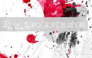 23 painted photoshop brushes by Tove91
