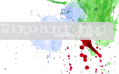 12 large handpainted textures by Tove91