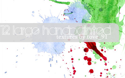12 large handpainted textures