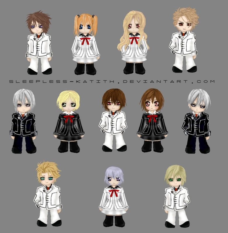 Anime Characters Named Zero : Vampireknight chibi characters by sleepless katith on