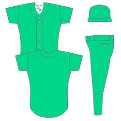 Baseball Uniform Template 1