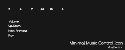 Minimal Music Control Icons by MayElectric