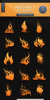 Abstract Flames - Brush Set