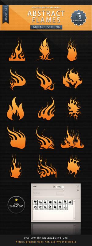 Abstract Flames - Brush Set