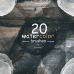 [20 Free] Watercolor Brushes - By Vector Media