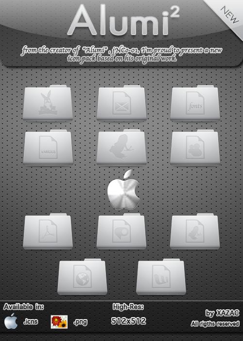 Alumi New Folder Icons by xazac87