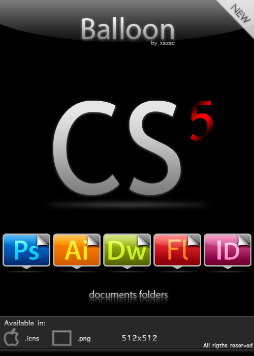 Balloon - CS5 Docs Folders by xazac87