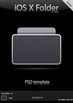 iOS X Folder - PSD Template
