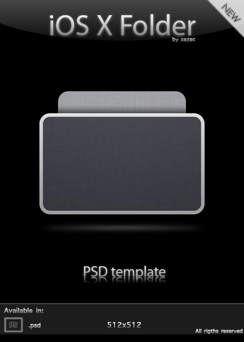iOS X Folder - PSD Template by xazac87