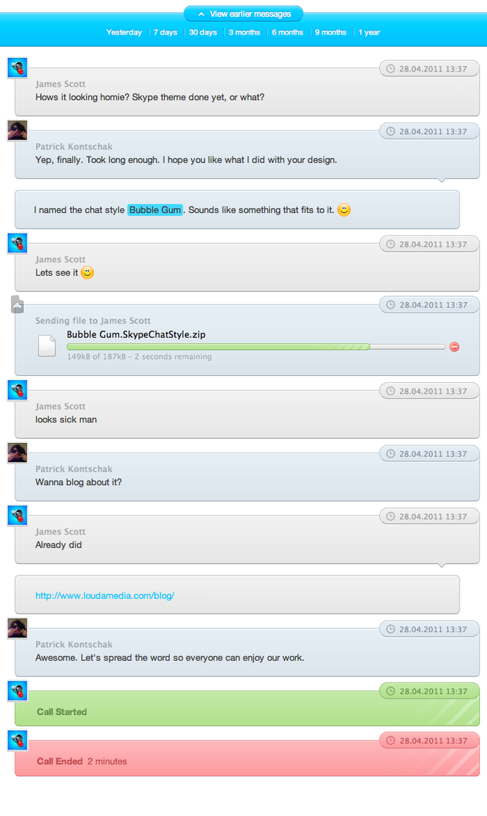 My conversation on skype with a couple from america 8