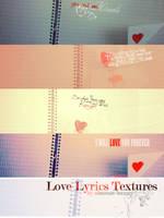 Love Lyrics Textures by obscene-bunny