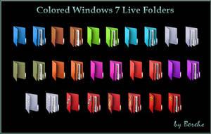 Colored Windows 7 Live Icons by Borche