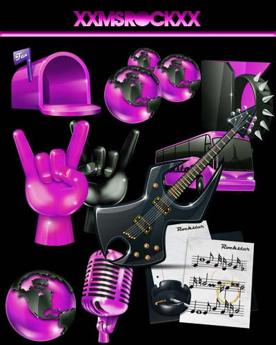 Icons RockDock by xxmsrockxx