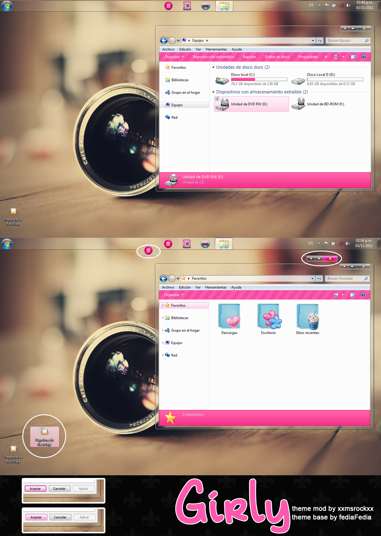 Theme W7 Girly by xxmsrockxx