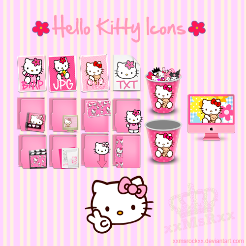 Hello Kitty Icons by xxmsrockxx