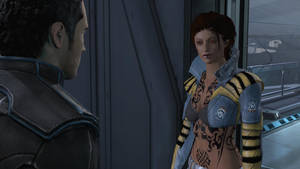Dead Space Pants Aria Top For Shepard With Tatoos by Aneksunamun