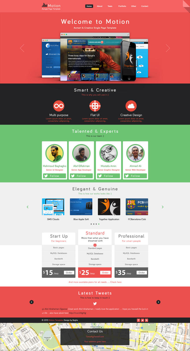 Motion single page psd web template for free by begha on for House design websites free