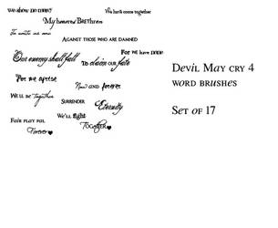 DMC4 word brushes by angeldream