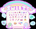Bubble Bobble: ~ Sweets ~ *gif* by lycheemilk