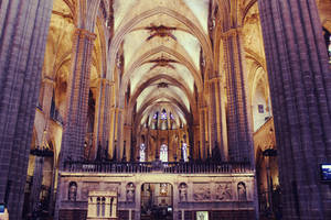 Inside the Cathedral of Barcelona