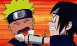 Funny Naruto and Sasuke gif by CatCamellia