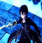 Kirito attacking gif
