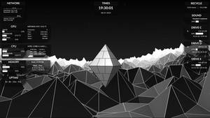 HOXY 2 Rainmeter Skins (System monitoring)