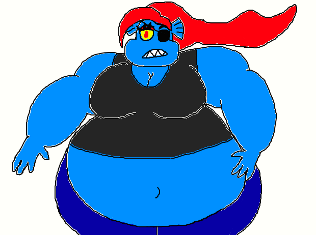 Fat Undyne By Butterfox99 On Deviantart