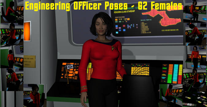 Engineering Officer Poses for the G2 Females