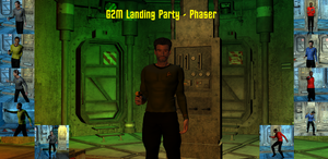 G2 Male Landing Party Poses - Phaser
