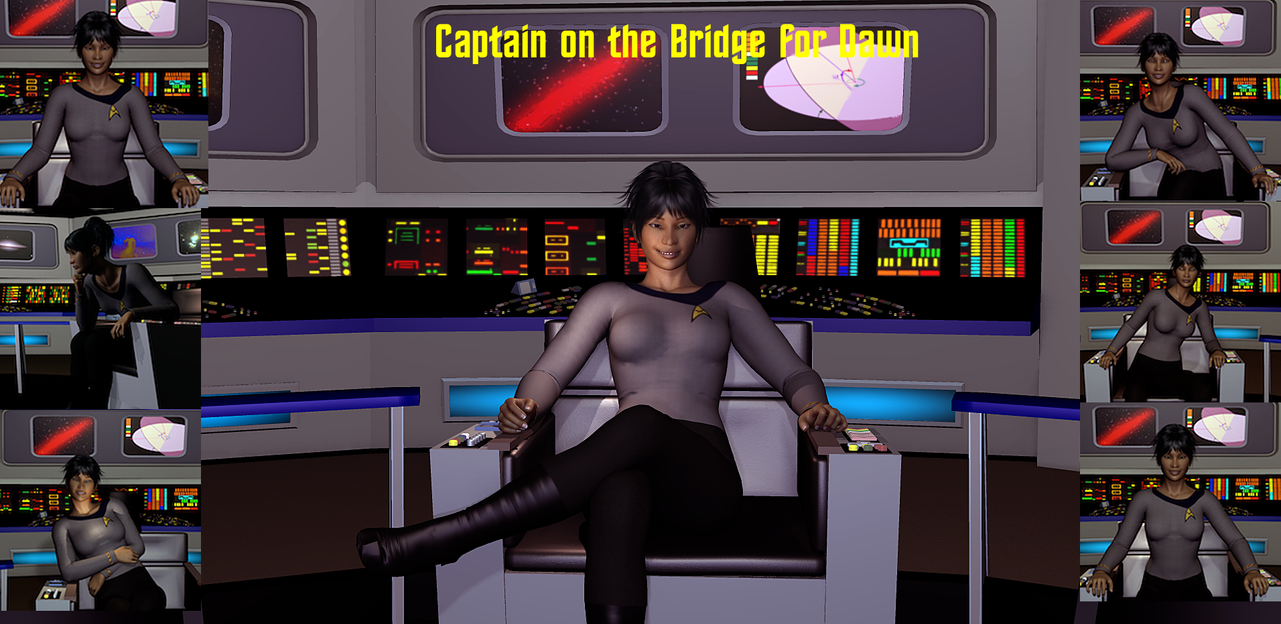 Captain on the Bridge - Dawn by ssgbryan